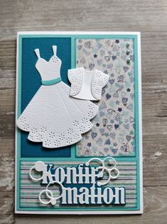 Card Crafts, Paper Crafts, Pop Out Cards, Dress Card, Stamping Up, Communion, Cardmaking, Journaling, Birthday Cards