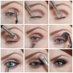 Cranberry Bronze Eye step-by-step. Makeup tutorial. DIY eyeshadow makeup application.