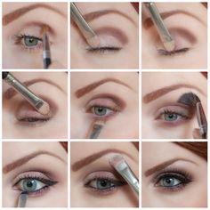 Cranberry Bronze Eye step-by-step. Makeup tutorial. DIY eyeshadow makeup application.