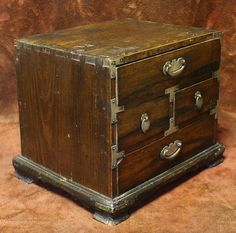 Woman's Accessory Box with Beautiful Persimmon Drawers