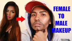 FEMALE TO MALE MAKEUP TRANSFORMATION TUTORIAL (Woman to Man)