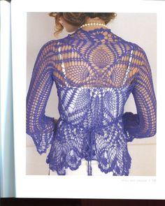 Delicate wrap cardigan crochet pattern