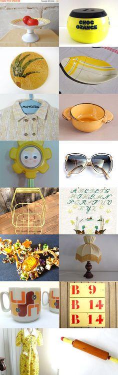 yellow yellow yellowwwwwwwwwwwww by TheFrenchAtticBazaar on Etsy