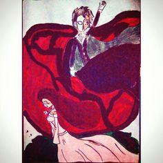 Terminei, gostei de trabalhar com tinta guache.... Não ficou a melhor coisa mas acho que consegui passar o que eu queria... O Fantasma Da Ópera ★★★★★★ I finished, I liked to work with gouache paint .... It was not the best thing but I think I got through what I wanted ... The Phantom Of The Opera  #art #draw #paiting #gouachepainting  #thephantomoftheopera #arte #desenho #pintura #guache #ofantasmadaopera