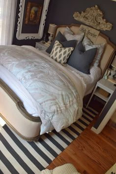 Connecticut Master Bedroom Tour - Nesting With Grace Bedroom Organization, Organization Ideas, Bedroom Ideas, Bedroom Decor, Duvet Bedding, Connecticut, House Tours, Nest, Master Bedroom