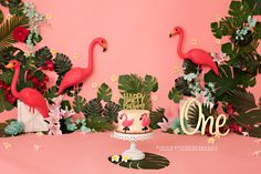 First birthday tropical cake smash set up using flamingos and florals Flamingo Cake, Pink Flamingos, Cake Smash Photography, Photography Props, Diy Cnc Router, Cake Smash Photos, Girl First Birthday, Candyland, Birthday Decorations