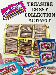 Box Tops for Education Treasure Chest Collection Activity Printable #BTFE #sponsored
