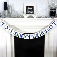 Hey, I found this really awesome Etsy listing at https://www.etsy.com/listing/150150748/wedding-garland-tying-the-knot