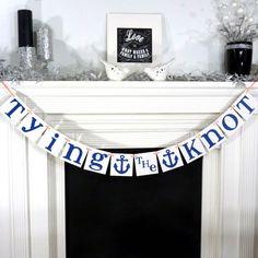 Wedding Garland / Tying The Knot Banner / Destination Wedding / Beach Wedding / Photo Prop / Bridal Shower / Anchor / Wedding Decoration via Etsy