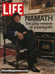 Life Magazine November 1972 : Cover - Joe Namath (football player) in his lavish nouveau-riche house. Don Imus, Time Magazine, Magazine Covers, History Magazine, Joe Namath, Life Cover, Sports Magazine, Sports Figures, We Are The World