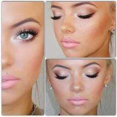 Gorgeous Barbie doll pink makeup. Perfect look for spring and summer date nights.