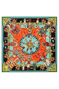 HERMÈS KACHINAS 140CM SCARF Printed Scarves, Silk Scarves, Bandanas, Shawl,  Pocket Squares 10a9059350e