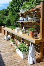 Utekök, on Inredningsfrun's garden deck