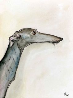 A LITTLE UNCOMPLICATED ITALIAN GREYHOUND PRINT by ElleJW on Etsy