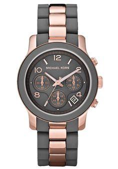 Michael Kors MK5465 Black Gold Runway Grey Women s Watch Rose Gold Watches,  Watches Michael Kors 032beead56a6