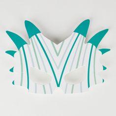 8 masques en papier à déposer sur la table, à offrir aux dinosaures ou à utiliser pour un photobooth pour un après-midi endiablé !