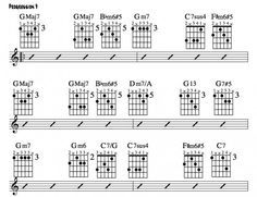 Further reharmonization of the twelve bar blues format using jazz chord substitution. In-depth theory, professional transcriptions, videos. Jazz Guitar Lessons, Music Theory Guitar, Guitar Chords For Songs, Guitar Chord Chart, Music Guitar, Music Lessons, Playing Guitar, Learning Guitar, Art Lessons