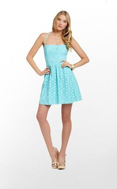Elisse Dress in Shorely Blue Daisy Lane Lace $228 (w/o 3/17/13) #lillypulitzer #fashion #style
