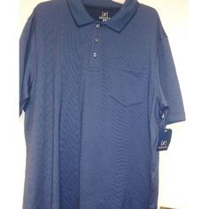 New Men Patterned Jersey Polo No Roll Collar Size XL/XG 46-48