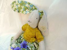 Millefeuilles - love the detail on this bunny, how gorgeous is the knitted sweater.xxx