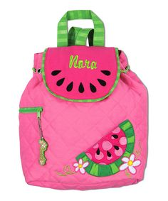Look at this #zulilyfind! Watermelon Quilted Personalized Backpack #zulilyfinds