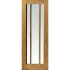 Usual Delivery Time; 48 - 72 Hours and free anywhere on the UK mainland, maximum delivery time is under 5 days, Islands and exports by arrangement. This River oak Darwen style door is supplied with clear safety glass, most other oak doors have either two panes or a single pane, the quality of finish belies the price we ask especially when you take in to account the free Uk wide delivery, island delivery would however be extra. The smaller 686mm size for this River oak Darwen ...