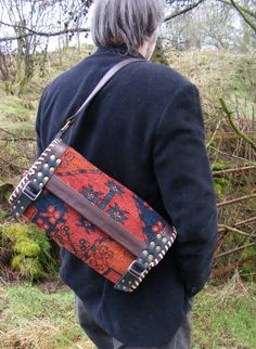 carpet bag  shoulder messenger satchel man bag by travellinglight,