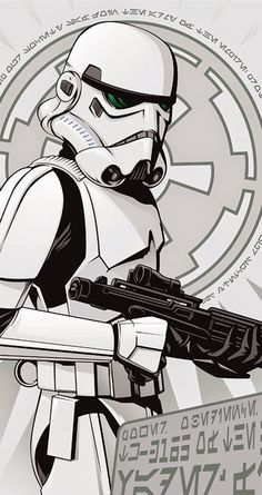 Storm Trooper. Star Wars Rebellion Propaganda Posters Collection. Tap image to see more! iPhone 5/5s and iPhone 6/6 Plus wallpapers - @mobile9 #starwars #wallpapers #retro