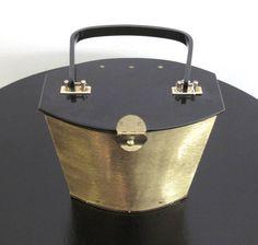 Brass Handbag with Lucite, USA 1950: Art Déco