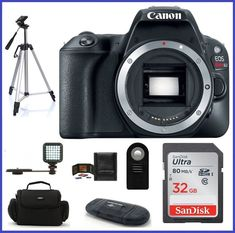 Canon EOS Rebel SL2 DSLR Camera Black Body 32GB Bundle- Canon Authorized Dealer