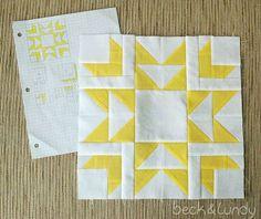"""beckandlundy: 12"""" Star Quilt Block"""