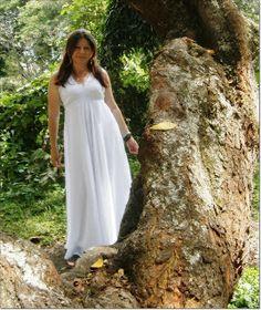 moda maria: vestido blanco