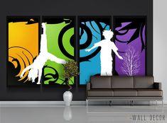 Abstract WALLPAPER MURAL Wall Painted Windows POSTER Wall ART Kids Room Decor