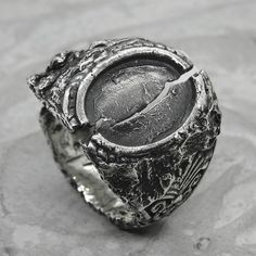 History ring-unusual ring with a unique texture of molten | Etsy