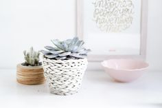 A DIY plaited planter that looks much harder to make than it really is!