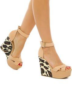 Wedges, shoes, summer, leopard print, Shoedazzle