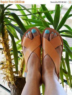 10% OFF FLASH SALE Greek Slingback Sandals Leather Sandals