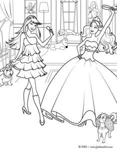 Coloring Pages Of Barbie Princess And The Popstar Et Princesse Samuse Dans Ce Beau Coloriage Viens Toi Aussi