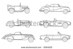high quality rarities BMW cars silhouettes by yexelA, via ShutterStock