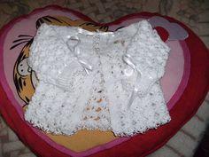 As Receitas de Crochê: Casaquinho de bebê em crochê - receita