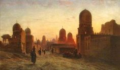 Tombs of the Khedives in Old Cairo by Frank Dillon (1823-1909)