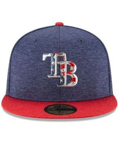 New Era Tampa Bay Rays Authentic Collection Stars & Stripes 59FIFTY Cap - Blue 7 1/2