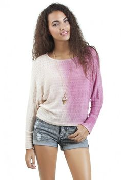 Pink Fade Knit Sweater