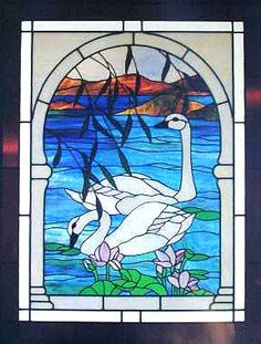 Swan Lake Stained Glass