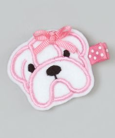 Look at this Pink Bulldog Clip on #zulily today!