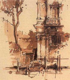 9,249 отметок «Нравится», 34 комментариев — @architecturesketch в Instagram: «City sketching»