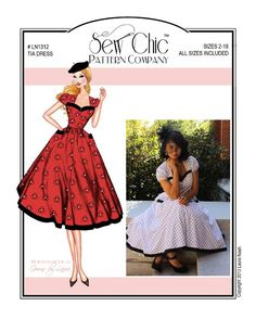 Vintage 1950s Sewing Pattern Sew Chic LN1312 Tia Dress