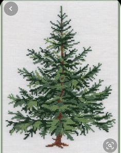 Vintage Cross Stitches, Counted Cross Stitch Patterns, Cross Stitch Designs, Cross Stitch Embroidery, Cross Stitch Tree, Simple Cross Stitch, Cross Stitch Christmas Ornaments, Christmas Cross, Christmas Embroidery Patterns