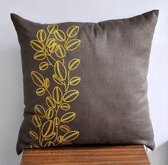 Yellow Pillow Cover Throw pillow cover 18 x 18 Medium от KainKain