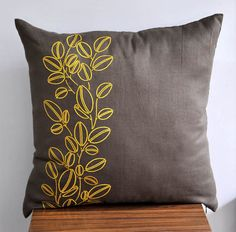 Yellow Pillow Cover Throw pillow cover 18 x 18 Medium от KainKain